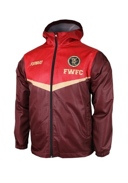 FIGHTER HOODY JACKET W SHIELD (PEPPER RED)