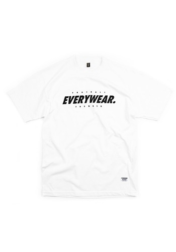 'EVERYWEAR PITCH' S/S COTTON T-SHIRT (WHITE)
