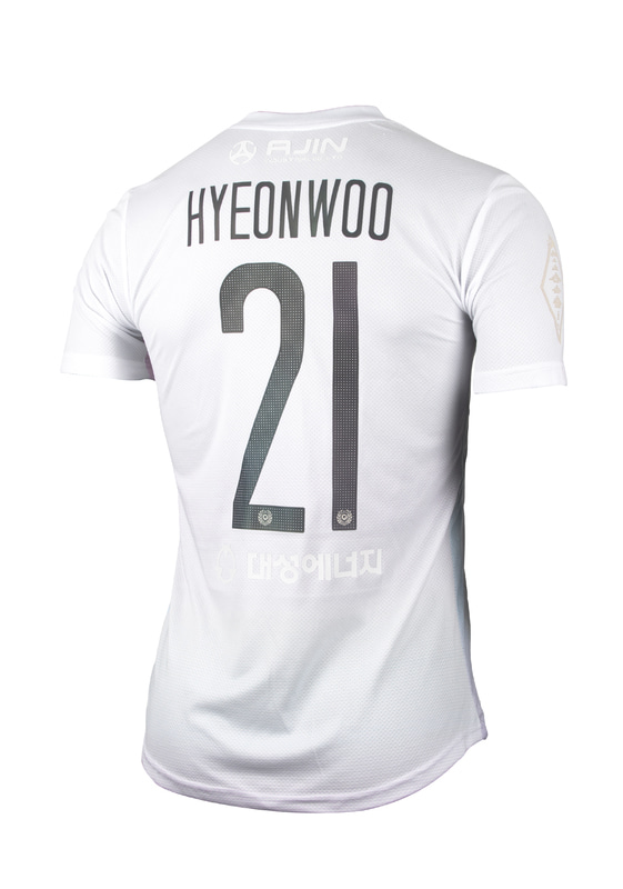 DAEGU FC  'PRISM PACK' MATCH JERSEY WHITE ver. 'FORCOOL' (AUTHENTIC / FULL PATCHED)