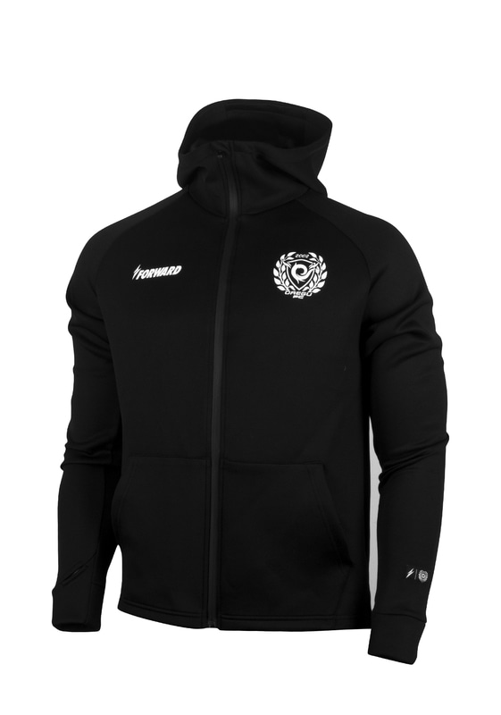 D.G.F.C TEAM LOGO FULL ZIP-UP HOODIE (BLACK)