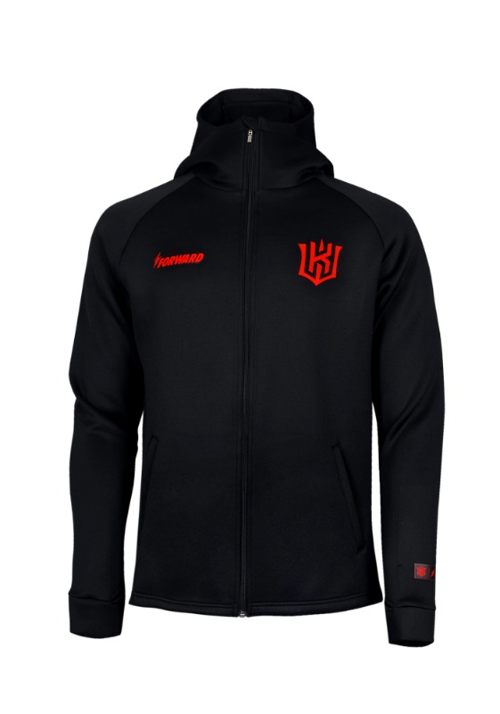 FORWARD kt wiz ZIP-UP HOODIE (BLACK/RED)