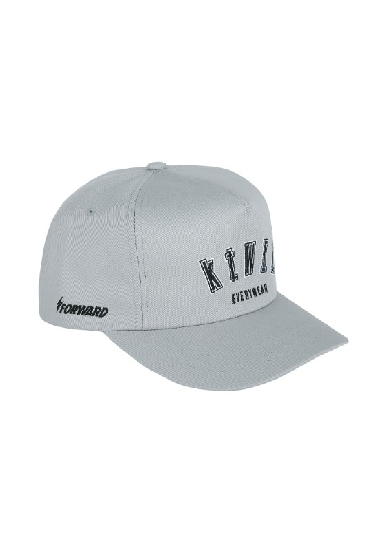 FORWARD kt wiz ARCH LOGO 5 PANEL SNAPBACK (GREY/BLACK)