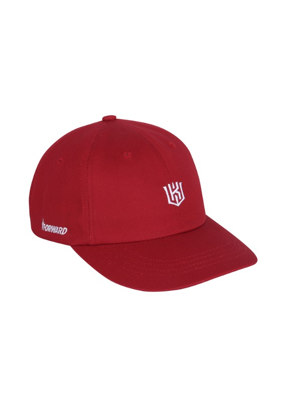 FORWARD kt wiz LOGO 6 PANEL CAP (RED/WHITE)