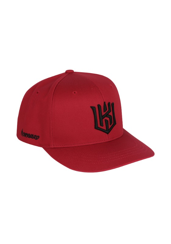 FORWARD kt wiz LOGO HALF CURVE SNAPBACK (RED/BLACK)