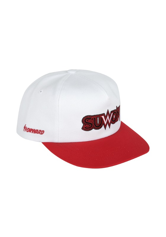 FORWARD kt wiz SUWON 5 PANEL SNAPBACK (WHITE/RED)