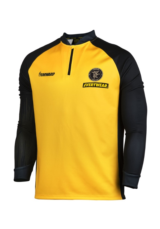LIGHTENING TRAINING HALF ZIP UP (BLACK/YELLOW)