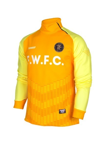 WARM-UP SIDE ZIP-UP TOP (ORANGE/YELLOW)