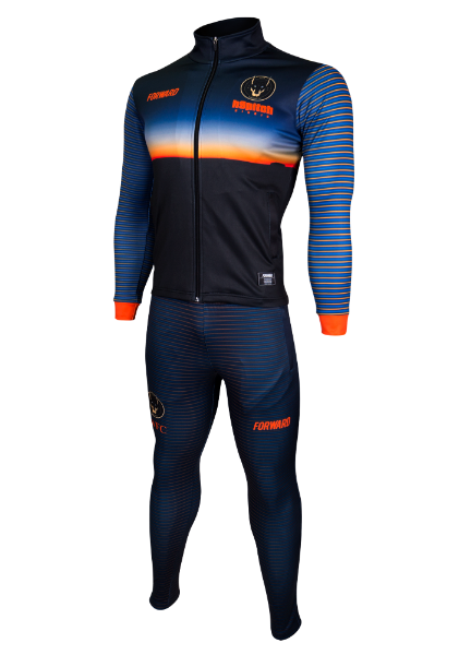 SUNSET TRACK TOP (BLUE/ORANGE)